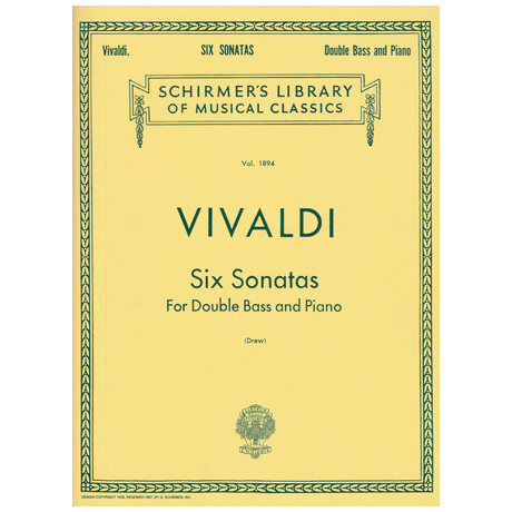 Vivaldi, A.: 6 Kontrabasssonaten