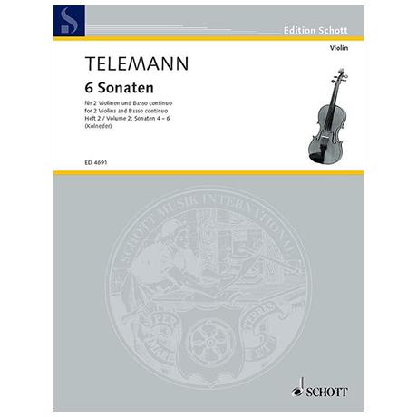 Telemann, G. Ph.: 6 Sonaten – Band 2
