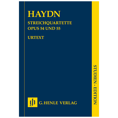 Haydn, J.: Streichquartette Heft VII Op. 54 und 55 »Tost-Quartette« – Partitur