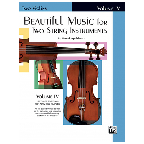 Applebaum, S.: Beautiful Music for two String Instruments Vol. 4 – Violin