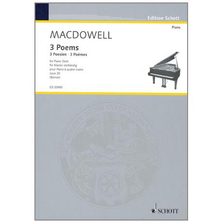 MacDowell, E.: 3 Poems Op. 20