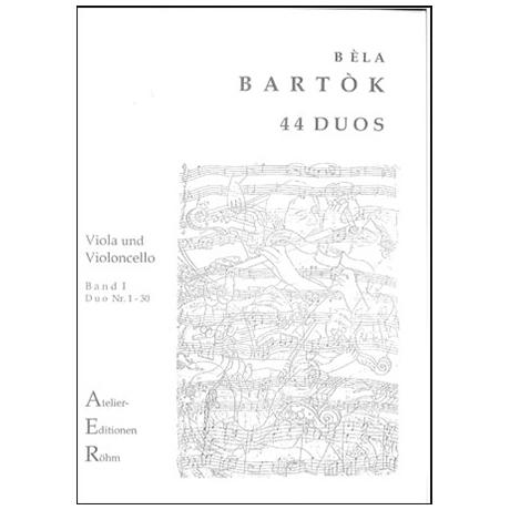 Bartók, B.: 44 Duos für Viola und Violoncello, Bd. 1 (Duo 1-30)