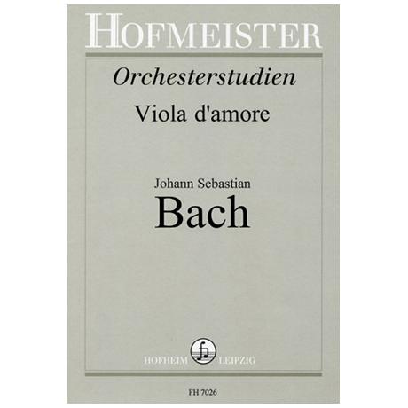 Spindler, F. / Drechsler, H.: Bach-Studien für Viola d'amore