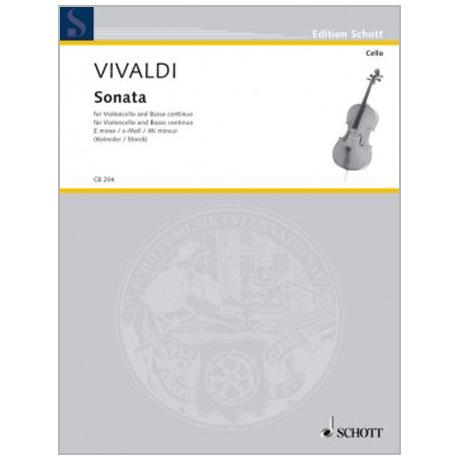 Vivaldi, A.: Sonata RV 40 e-Moll