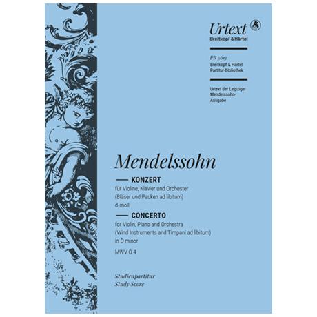 Mendelssohn Bartholdy, F.: Doppelkonzert d-Moll MWV 04