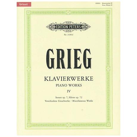 Grieg, E.: Verschiedene Kompositionen IV