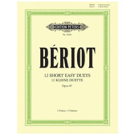 Bériot, Ch. d.: 12 petits duos faciles Op. 87
