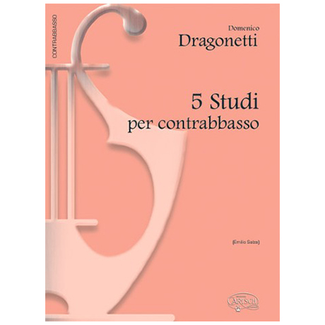 Dragonetti, D.: 5 Studi Per Contrabbasso
