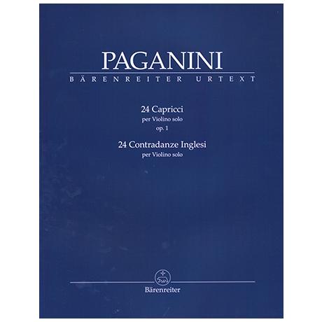Paganini, N.: 24 Capricci Op. 1 und Op. 24 Contrandaze Inglesi