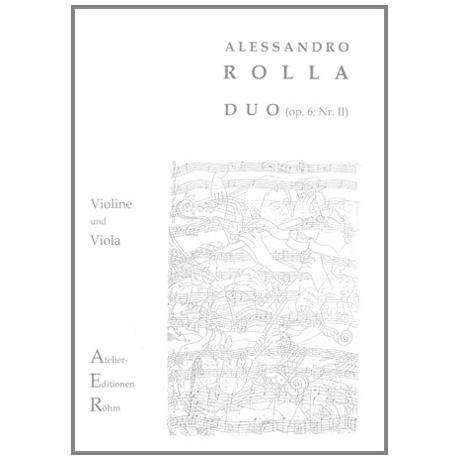 Rolla, A: Duo Op. 6 Nr. 2
