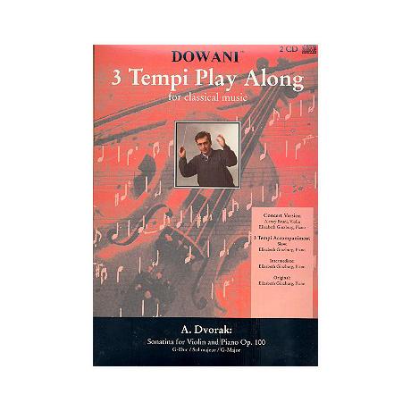 Dvořák, A.: Sonatine Op. 100 G-Dur – 3 Tempi Playalong 2CDs