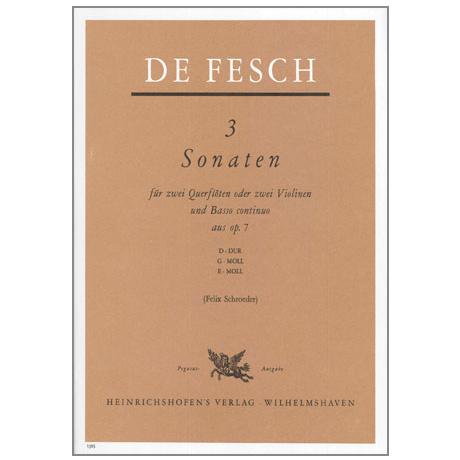 Fesch, W. d.: 3 Sonaten Op. 7