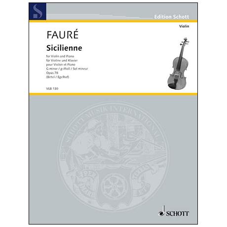 Fauré, G.: Sicilienne Op. 78 g-Moll