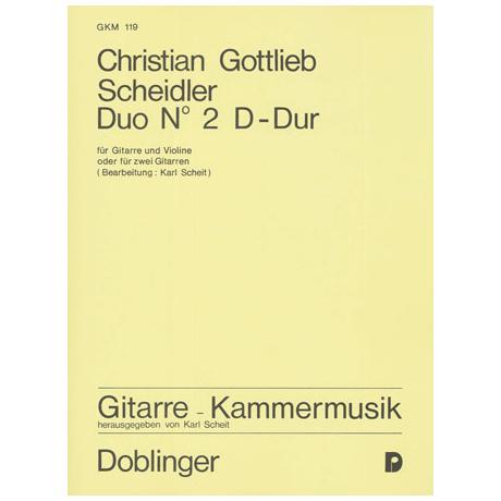 Scheidler, C .G.: Duo Nr. 2 D-Dur