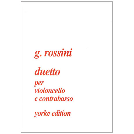 Rossini, G.: Duetto D-Dur