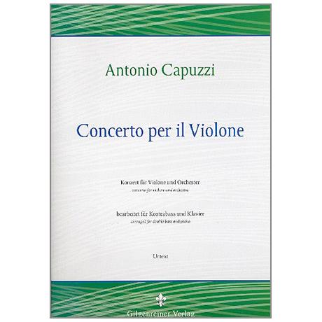 Capuzzi, G.A.: Concerto per il violone D-Dur