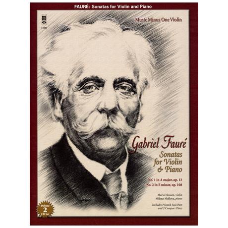 Faure, G.: Sonatas No.1 op.13 A major &  No.2 op.108 E minor (+2CDs)