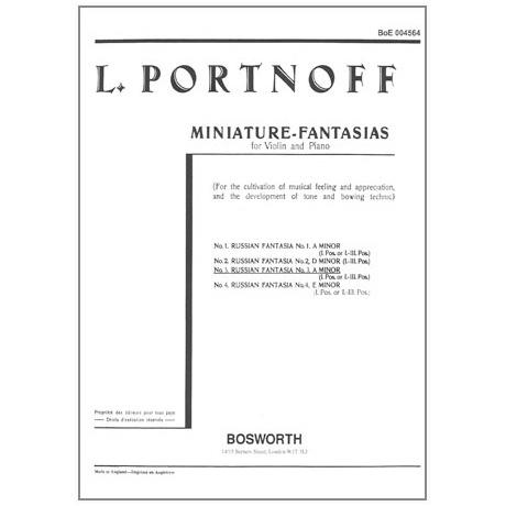 Portnoff, L.: Russische Fantasie in a-Moll Nr. 3