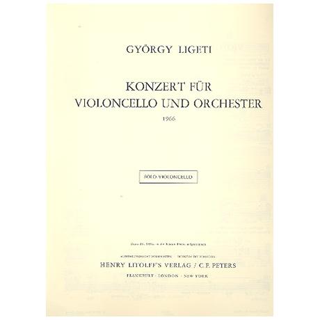 Ligeti, G.: Violoncellokonzert