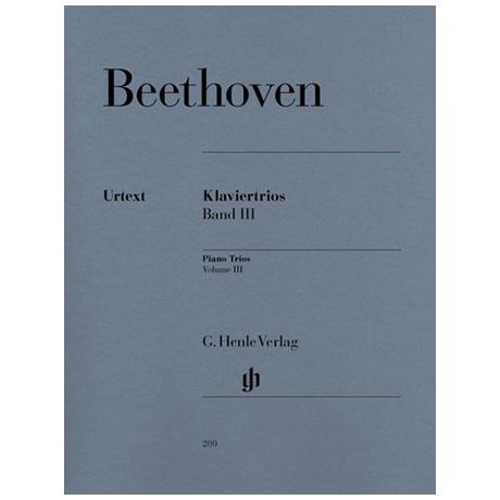 Beethoven, L. v.: Klaviertrios Band 3 Op. 44, 38, WoO 37, 38, 39