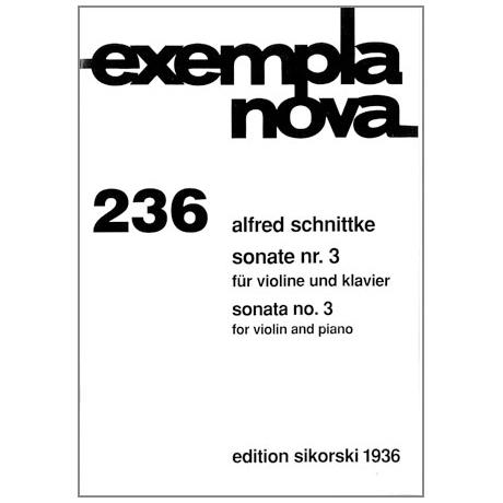 Schnittke, A.: Violinsonate Nr. 3