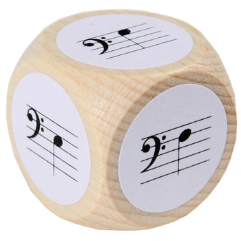 Note Dice with bass clef