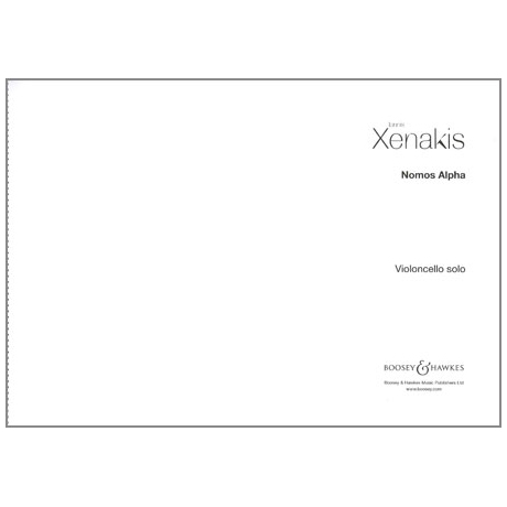 Xenakis, I.: Nomos Alpha