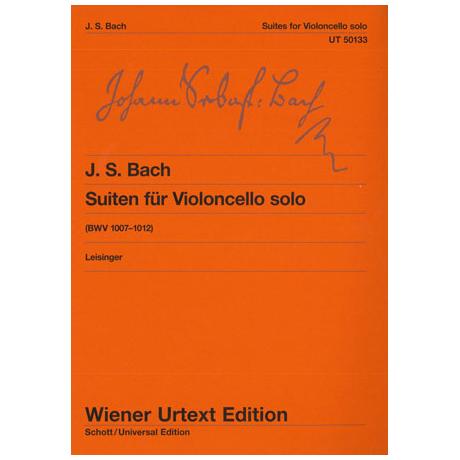 Bach, J. S.: 6 Cello-Suiten BWV 1007-1012
