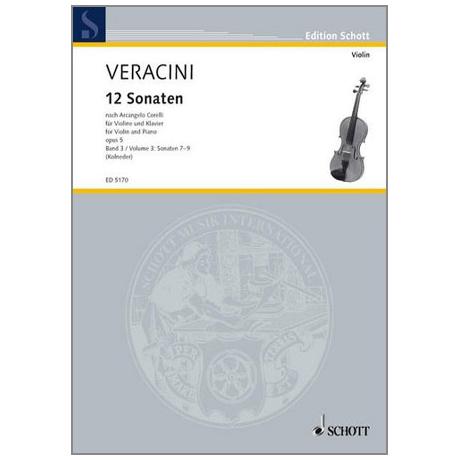 Veracini, F. M.: 12 Violinsonaten nach Corellis Op. 5 Band 3