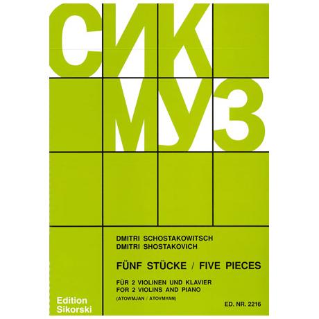 Schostakowitsch, D.: 5 Stücke Op. 97