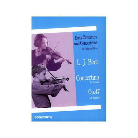 Beer, L. J.: Violinkonzert Op. 47 e-Moll