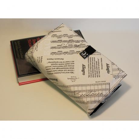 Fabric book cover Partitura