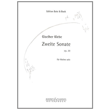 Klebe, G.: Sonate Nr. 2 Op. 20