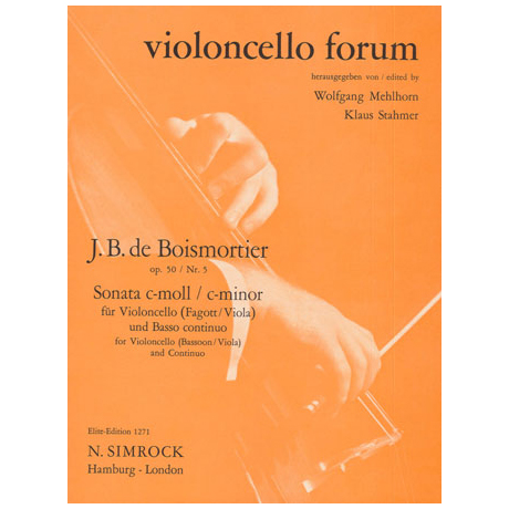 Boismortier, J. B. d.: Violasonate Nr. 5 Op. 50 c-Moll