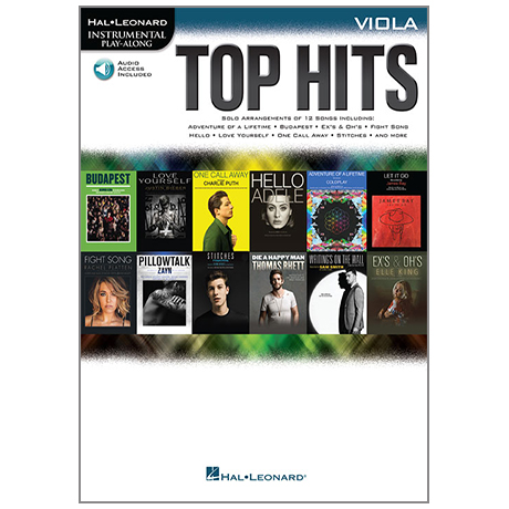 Top Hits for Viola (+Online Audio)