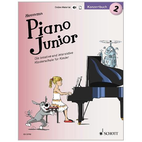 Heumann, H.-G.: Piano Junior – Konzertbuch Band 2 (+Online Material)