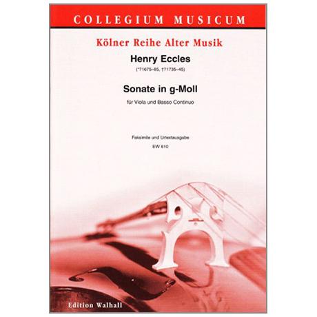 Eccles, H.: Violasonate Undecimo g-Moll