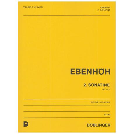 Ebenhöh, H.: 2. Violinsonatine Op. 15/2
