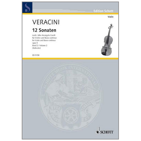 Veracini, F. M.: 12 Violinsonaten nach Corellis Op. 5 Band 2