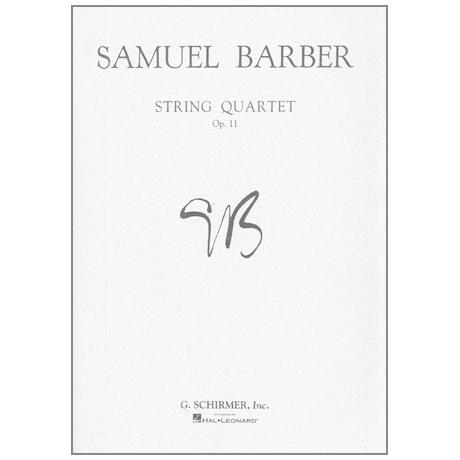 Barber, S.: String Quartet Op. 11