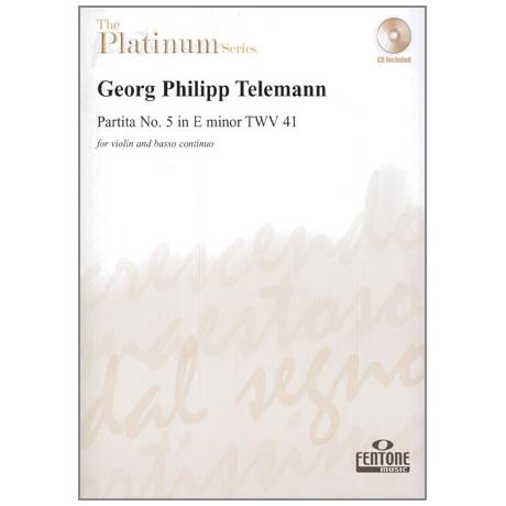 Telemann, G. Ph.: Partita Nr. 5 TWV 41 e-Moll