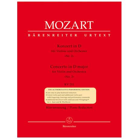 Mozart, W. A.: Violinkonzert Nr. 2 KV 211 D-Dur