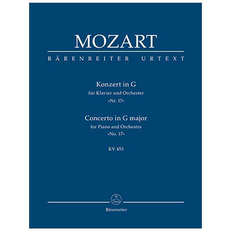 Mozart, W. A.: Konzert für Klavier und Orchester Nr. 17 G-Dur KV 453