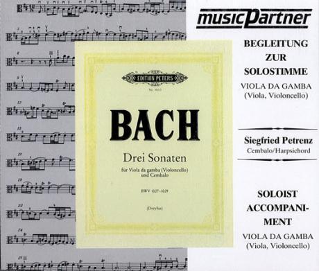 Bach, J. S.: 3 Violoncellosonaten BWV 1027-1029 (CD - Begleitung zur Solostimme)