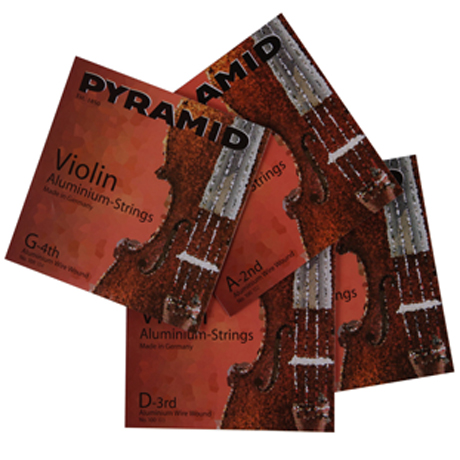 PYRAMID Aluminium violin strings SET