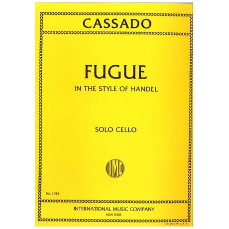 Cassado, G.: Fuge C-Dur (über ein Thema von Händel)