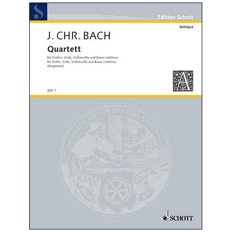 Bach, J. Chr.: Quartett G-Dur