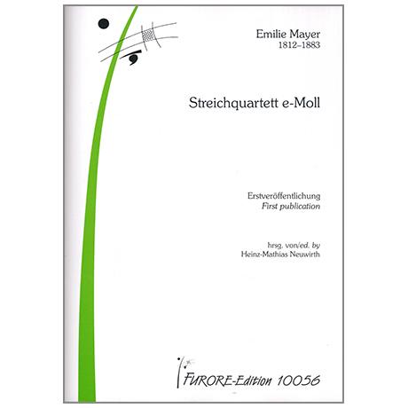 Mayer, E.: Streichquartett e-Moll