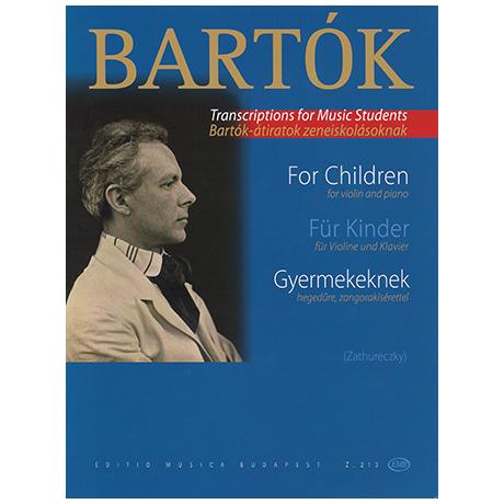 Bartók, B.: Für Kinder — Ausgewählte Stücke