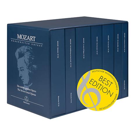 Mozart, W. A.: Die sieben großen Opern KV 366, 384, 492, 527, 588, 620, 621